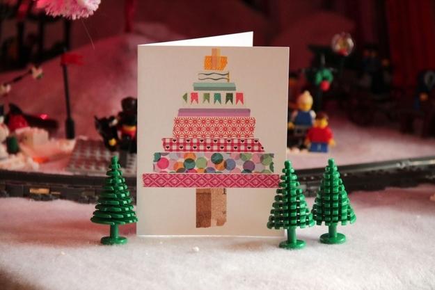 Washi Tape Χριστουγεννιάτικα Δέντρα