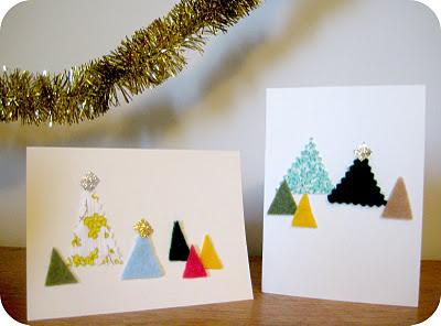 Τσόχα και ύφασμα Χριστούγεννα Κάρτες