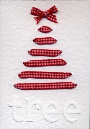 Η κορδέλα Χριστουγεννιάτικο Δέντρο Κάρτα