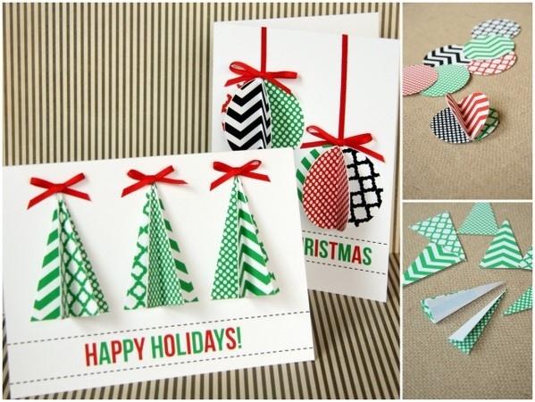Το 3-D Γεωμετρική Χριστουγεννιάτικη Κάρτα