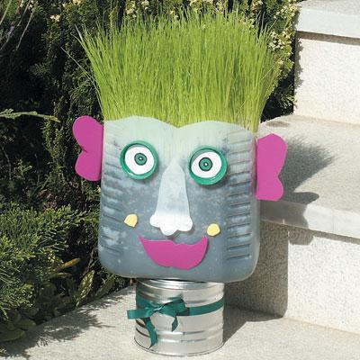 Γλάστρα Ανθρωπάκι με Ανακυκλώσιμα Υλικά