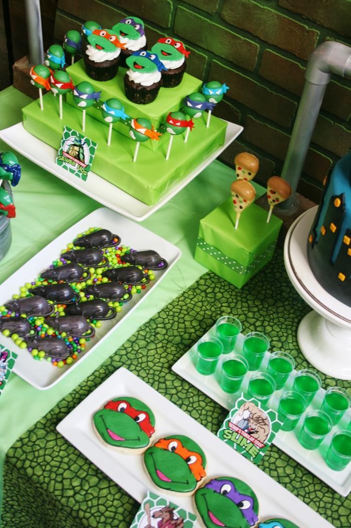Teenage Mutant Ninja Turtles Party with Lots of Really Cool Ideas via Kara's Party Ideas KarasPartyIdeas.com #TMNTParty #PartyIdeas #Supplies (5)