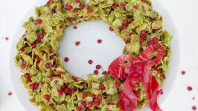 Χριστουγεννιατικο στεφανι απο cornflakes! Η πιο νόστιμη συνταγή μόνο με 4 υλικά!