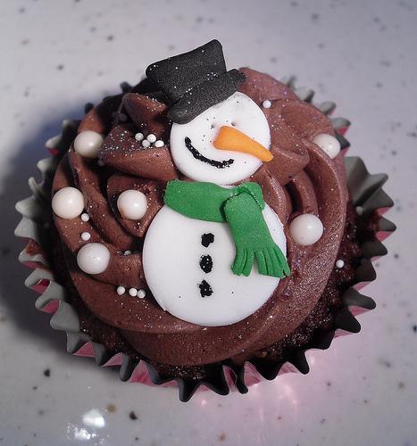 Χριστουγεννιατικα Cupcakes με noutella με τρια Υλικα!