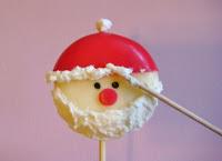 Τυρακι σε σχημα Αγιο Βασιλη για το μπουφε των Χριστουγεννων