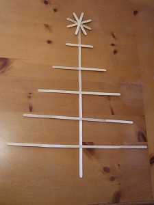 DIY craft stick Christmas tree