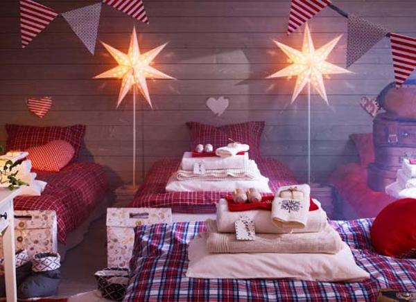 christmas bedroom light for kids 15 Christmas Kids Bedroom Ideas