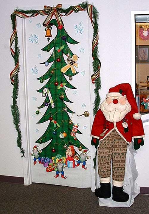 christmas kids bedroom door decorating Christmas kidsroom decorations 2014