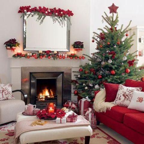 55 χριστουγεννιατικες ιδεες διακοσμησης για το σαλονι σας