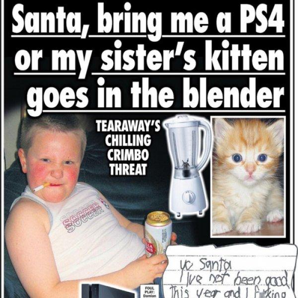 Το παιδί που εκβίασε τον Άϊ-Βασίλη για ένα Play Station 4