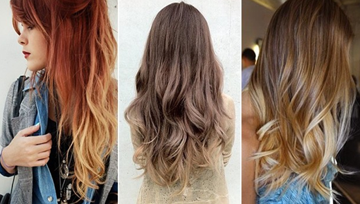 Омбре на русых волосах