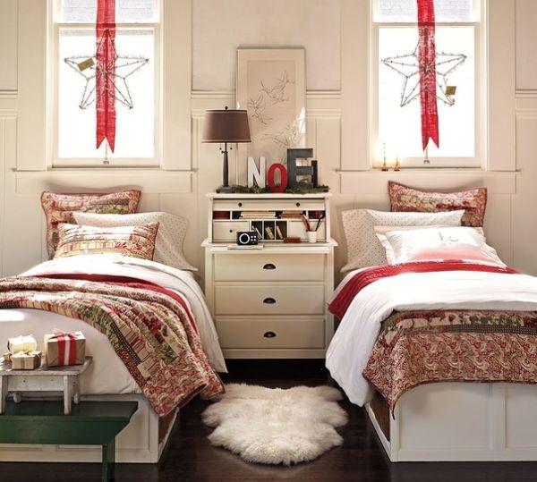 two christmas bedroom decor 15 Christmas Kids Bedroom Ideas