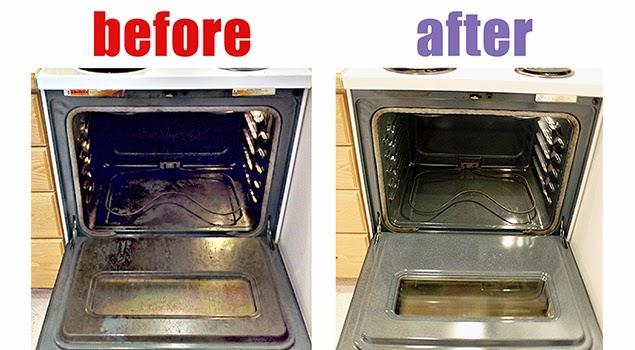 καθάρισμα φούρνου με αμμώνια πριν και μετά