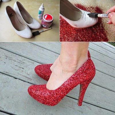 12+1 ιδέες για να ανανεώσεις τα παλιά σου παπούτσια!