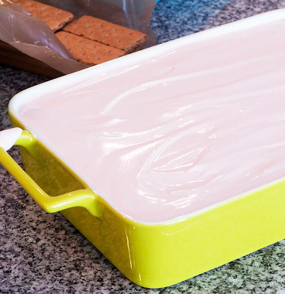 pan of ice box cake