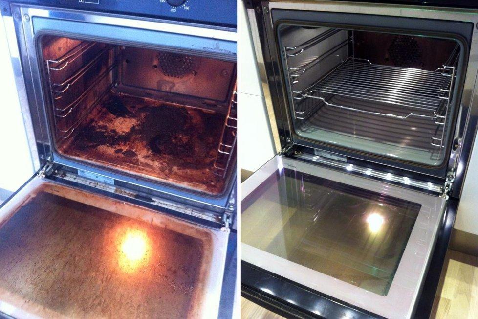 Καθάρισμα φούρνου με αμμώνια:Καθαρίστε σκληρή βρωμιά χωρίς τρίψιμο