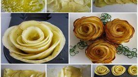 Πως να κανετε πατατες τριανταφυλλο!!!Ιδανικη ιδεα για παρτυ και μπουφε