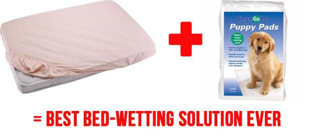 Βάλτε δύο στρώματα σεντόνι (που χωρίζονται από κουτάβι μαξιλάρια) στο κρεβάτι του παιδιού σας ώστε να είναι πιο εύκολο να αλλάξετε τα φύλλα τους στη μέση της νύχτας, εάν έχετε ένα ατύχημα.