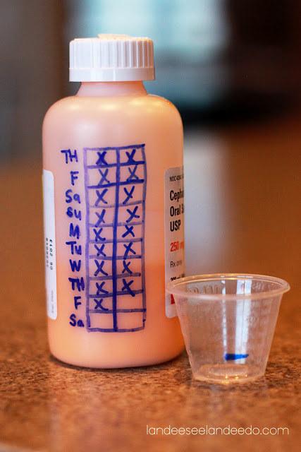 Χρησιμοποιήστε το μπουκάλι για να παρακολουθείτε τις δόσεις του παιδιού σας.