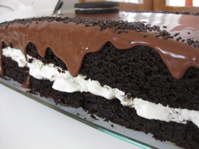 Αμαρτωλή τούρτα με μπισκότα oreo.