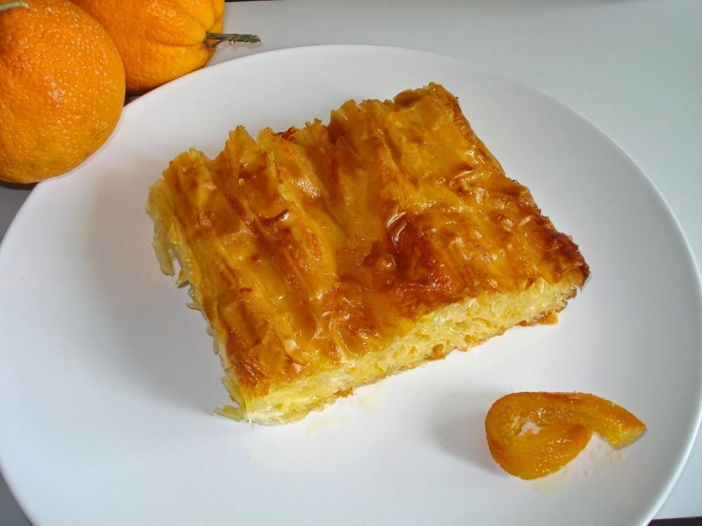 Λαχταριστη πορτοκαλοπιτα με φυλλο κρουστας