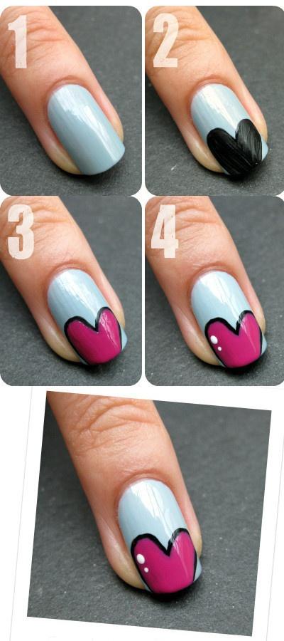 Valentine's Day Nail Art DIY Ideas that You'll Love30