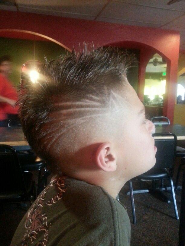 Teen boy haircut