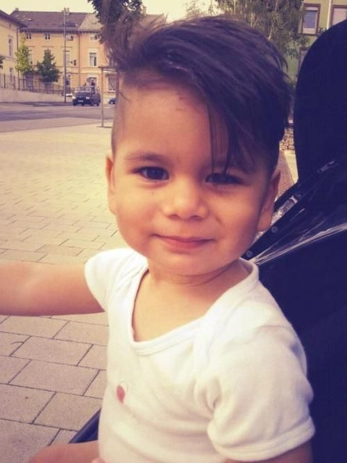 OMG adorable baby side cut cool haircut for toddler boy---Liam (if he ever gets hair) would be badass with this haircut!