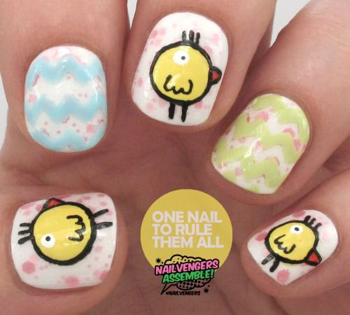 12 Easter Chick Nail Art Designs Ideas Trends Stickers 2015 5 12+ Easter Chick Nail Art Designs, Ideas, Trends & Stickers 2015