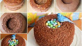Υπεροχο Πασχαλινό κέικ καλάθι