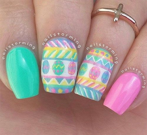Cute Easter Gel Nail Art Designs Ideas Trends Stickers 2015 9 Cute Easter Gel Nail Art Designs, Ideas, Trends & Stickers 2015