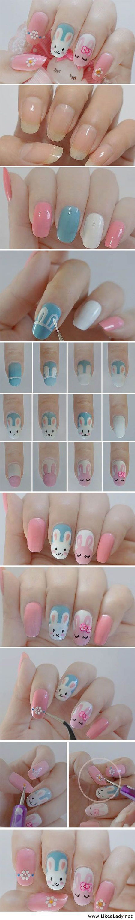 Elegant Easter Nail Art Tutorials For Beginners Learners 2014 10 Elegant Easter Nail Art Tutorials For Beginners & Learners 2014