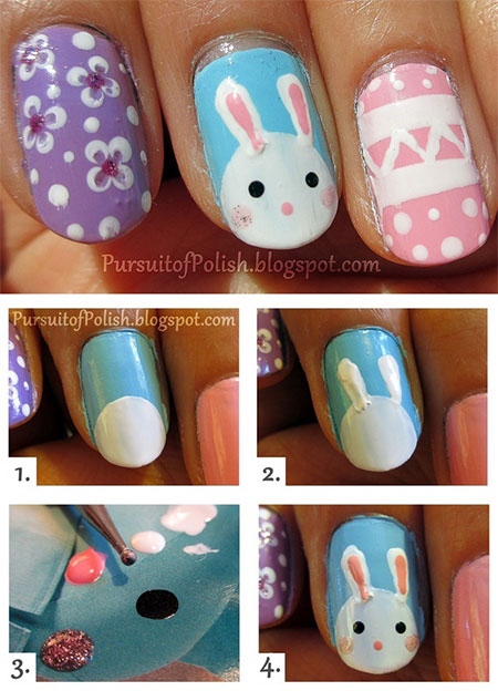 Elegant Easter Nail Art Tutorials For Beginners Learners 2014 5 Elegant Easter Nail Art Tutorials For Beginners & Learners 2014