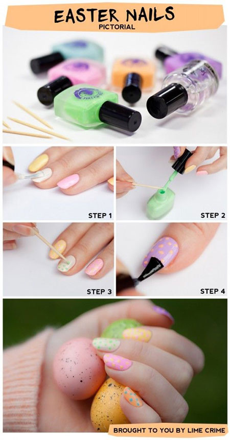 Elegant Easter Nail Art Tutorials For Beginners Learners 2014 6 Elegant Easter Nail Art Tutorials For Beginners & Learners 2014