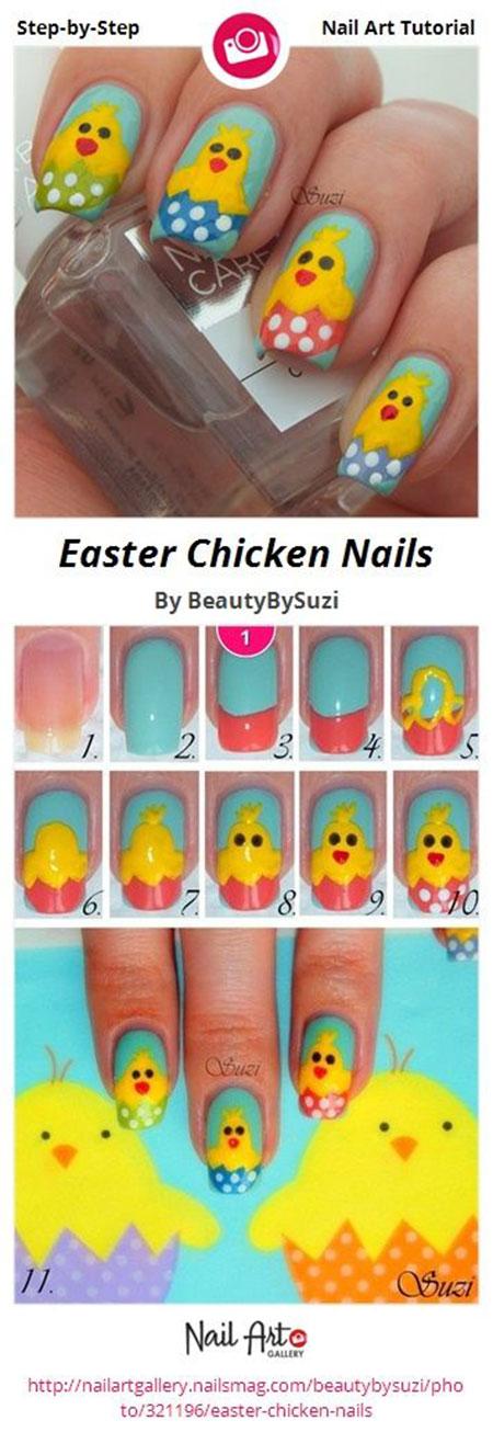 Elegant Easter Nail Art Tutorials For Beginners Learners 2014 8 Elegant Easter Nail Art Tutorials For Beginners & Learners 2014