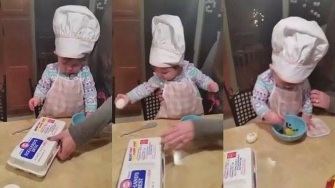 Η 16 μηνών σεφ που εντυπωσίασε το διαδίκτυοΒΙΝΤΕΟ