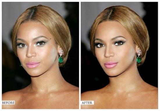 Photoshop VS Πραγματικότητα .Διάσημοι πριν και μετά το photoshop