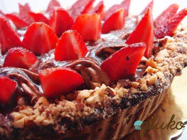 Τάρτα Σοκολάτας με Φράουλες