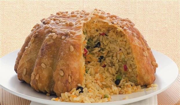 Ρυζι σε φυλλο κρουστας.Ιδανικη ιδεα για μπουφε