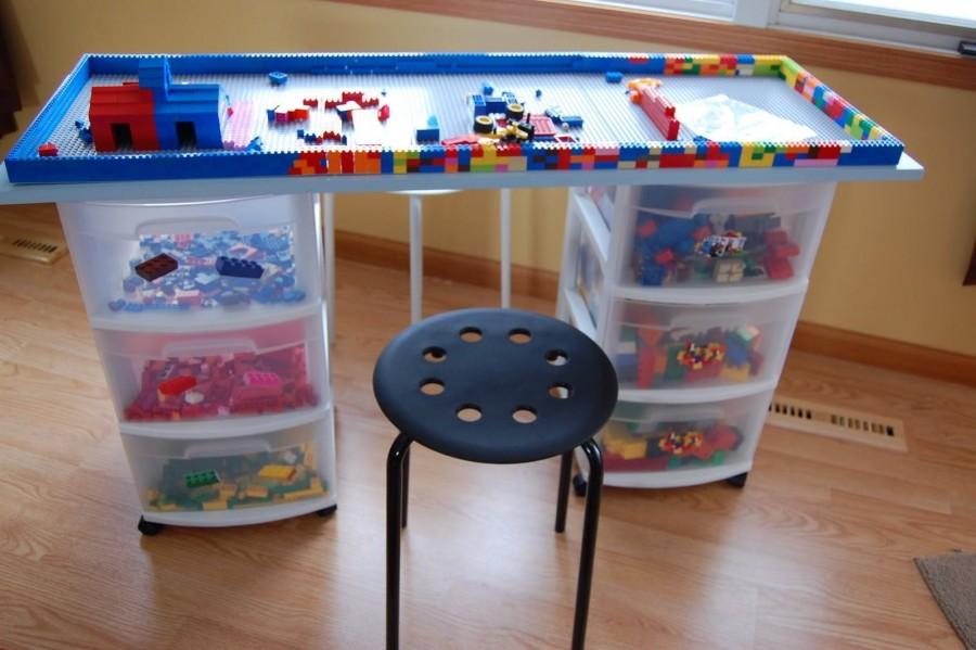 Φτιάξτε γραφείο για τα lego με κουτιά αποθήκευσης μόνες σας! DIY