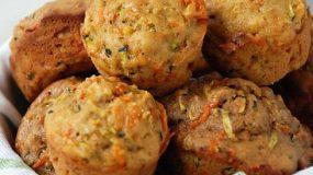 Συνταγή για παιδιά που δε τρών λαχανικά:Muffins με κολοκυθάκια και καρότα