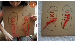 Πως θα μάθει το παιδί  να δένει τα κορδόνια μονο του;