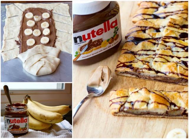 Πανευκολη πιτα με nutella και μπανανες