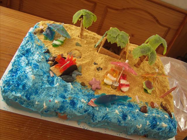 Πως θα φτιάξουμε άμμο που τρώγεται  για καλοκαιρινες τουρτες!Απιθανη ιδεα διακοσμησης