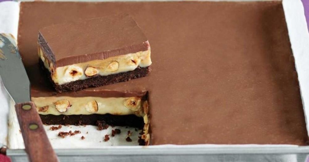 To πιο ευκολο δροσερο γλυκο ψυγειου με σοκολάτα και καραμέλα!