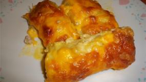 Ρολάκια κοτοπουλο με κρεμώδη σάλτσα