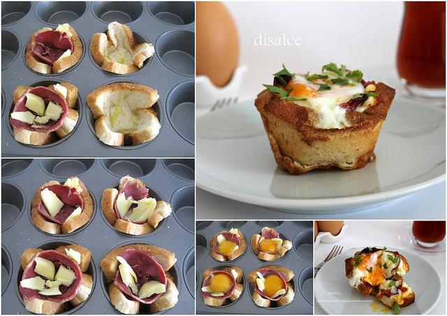 Λαχταριστες φωλιτσες με ψωμι του τοστ!Τελεια ιδεα για πρωινο!