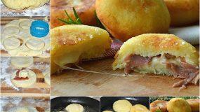 Συνταγή για σνακ :Λουκουμάδες πατάτας με τυριά και αλλαντικά!