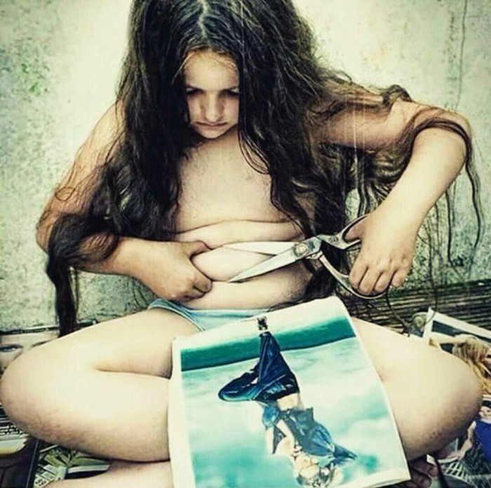 Μην τιμωρείτε τον εαυτό σας γιατί δεν είναι τέλειος σύμφωνα με τα πρότυπα της διαφήμισης.