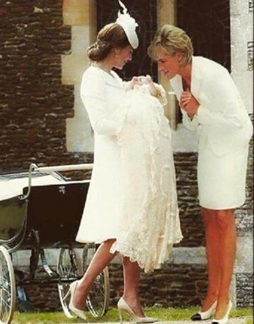 Όταν η πριγκίπισσα Daiana συνάντησε τη μικρή Charlotte